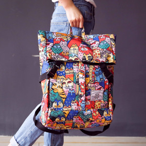 Comic Cat Girl Lifestyle C120 College Backpack